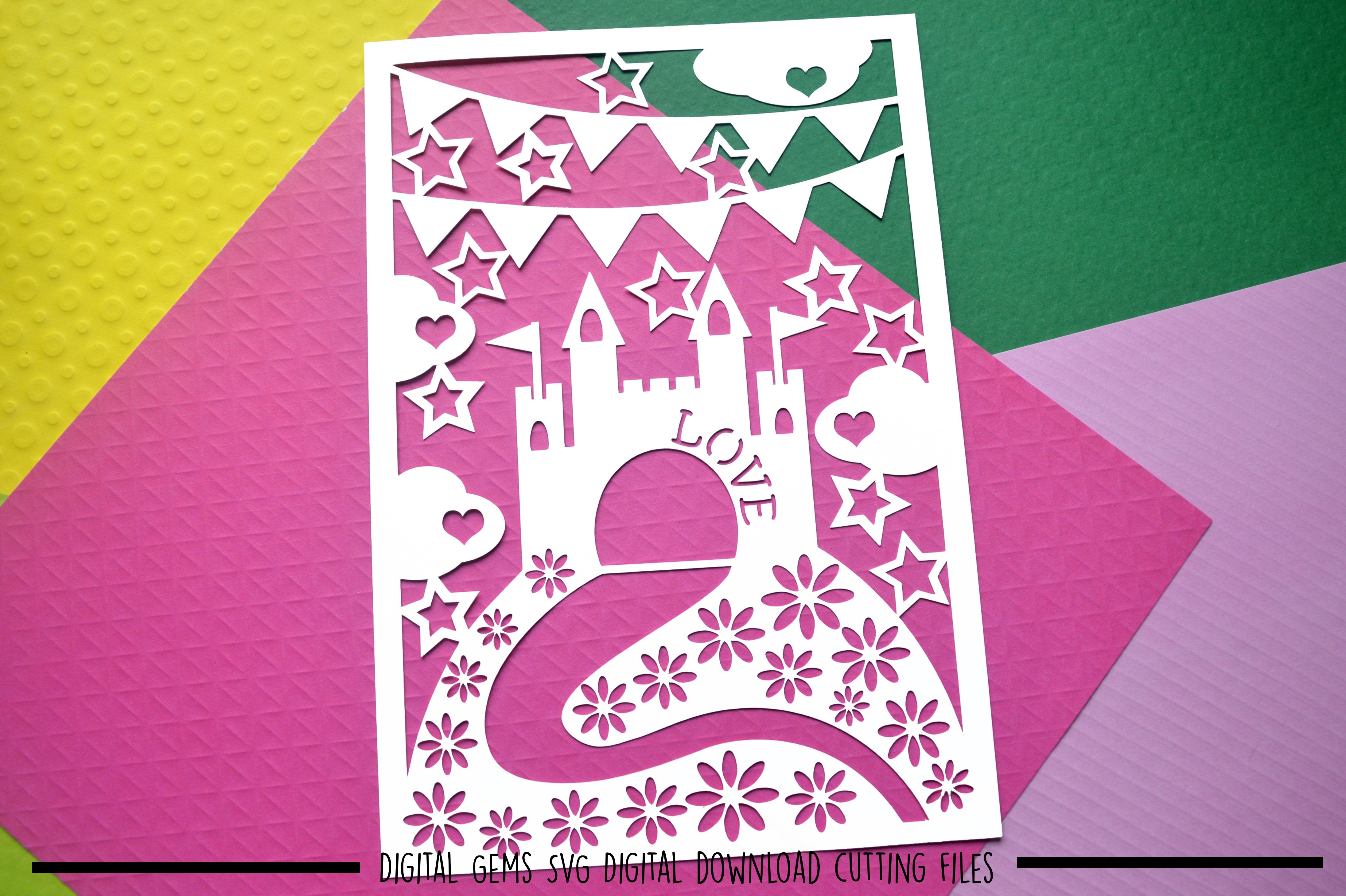 Castle paper cut SVG / DXF / EPS files example image 2
