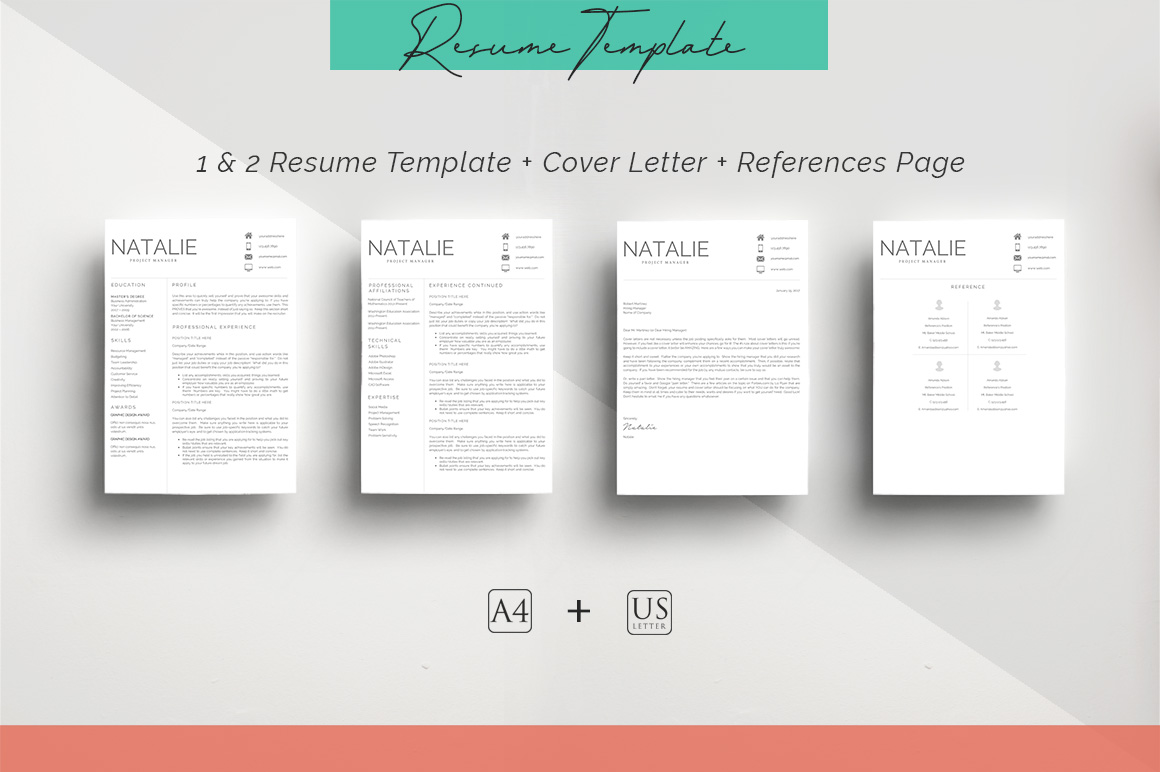 ULTIMATE BUNDLE Resume Template 10 in 1 example image 11