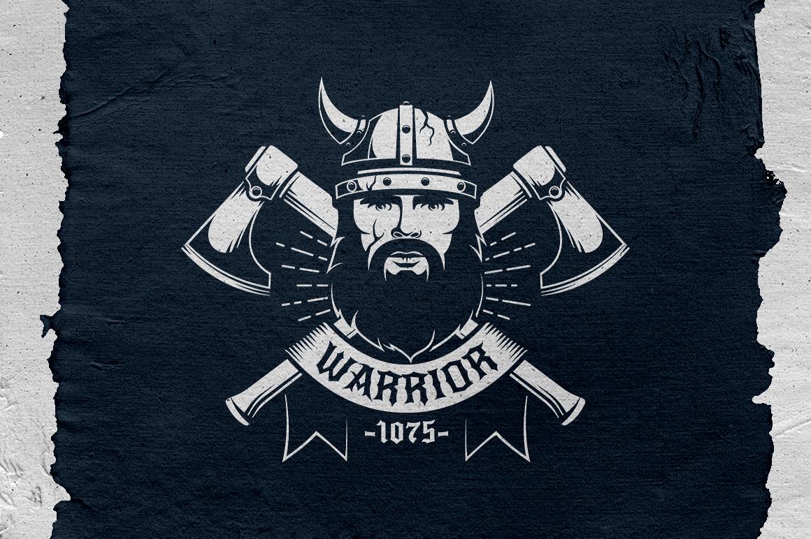 Viking Warrior Logo Template example image 2