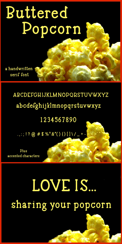 Buttered Popcorn - A handwritten serif font example image 8