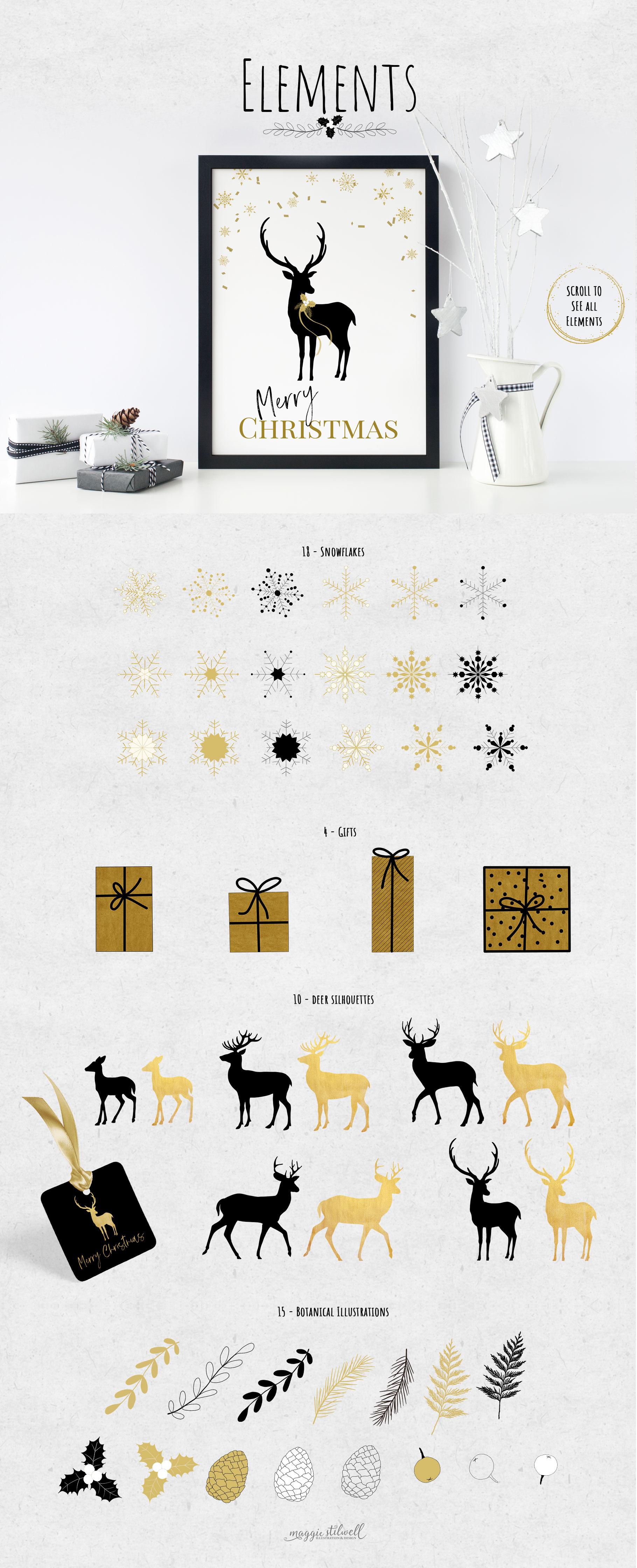 Black & Gold Christmas example image 9