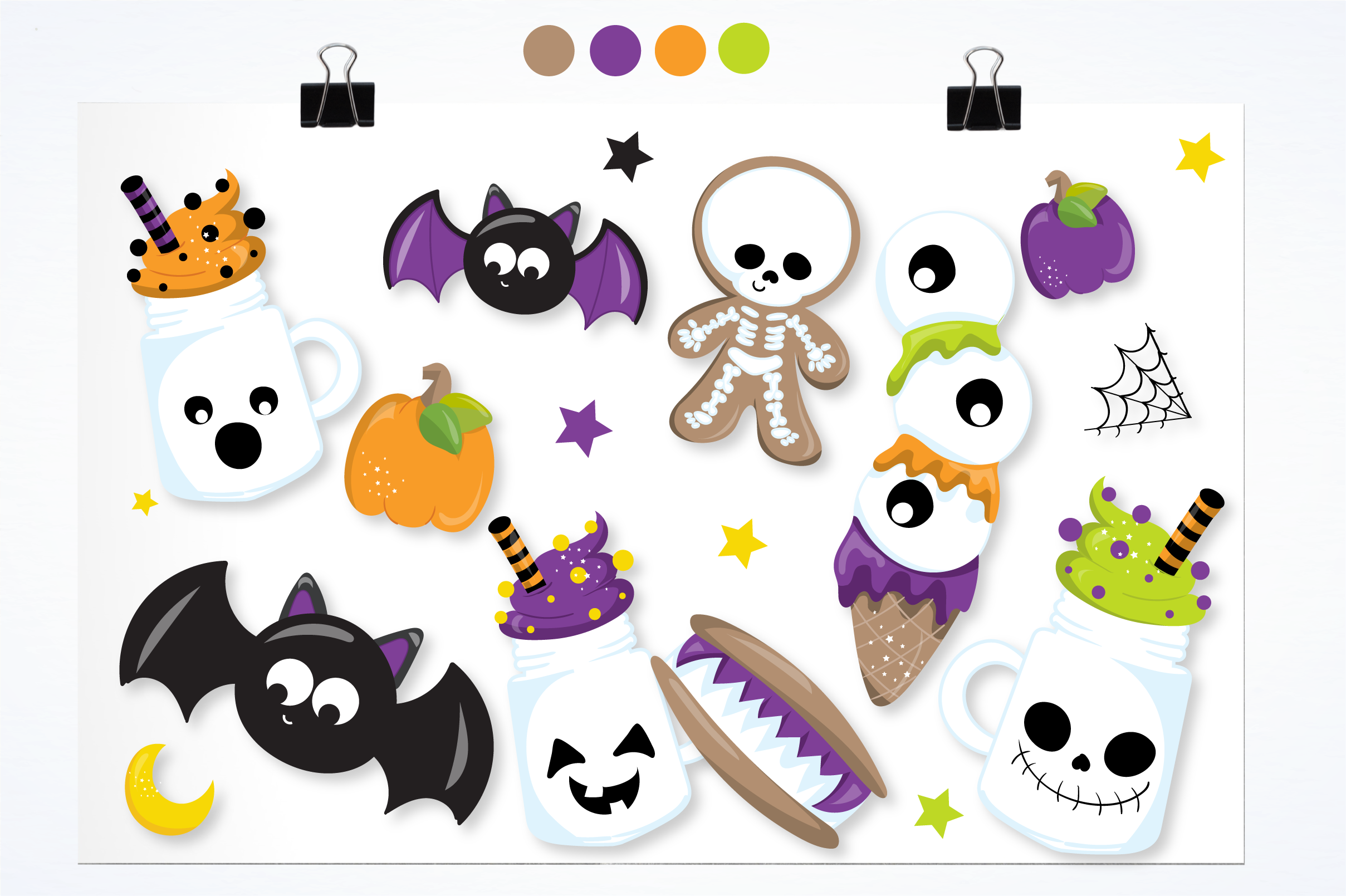 halloween sweets graphics and illustrations example image 2