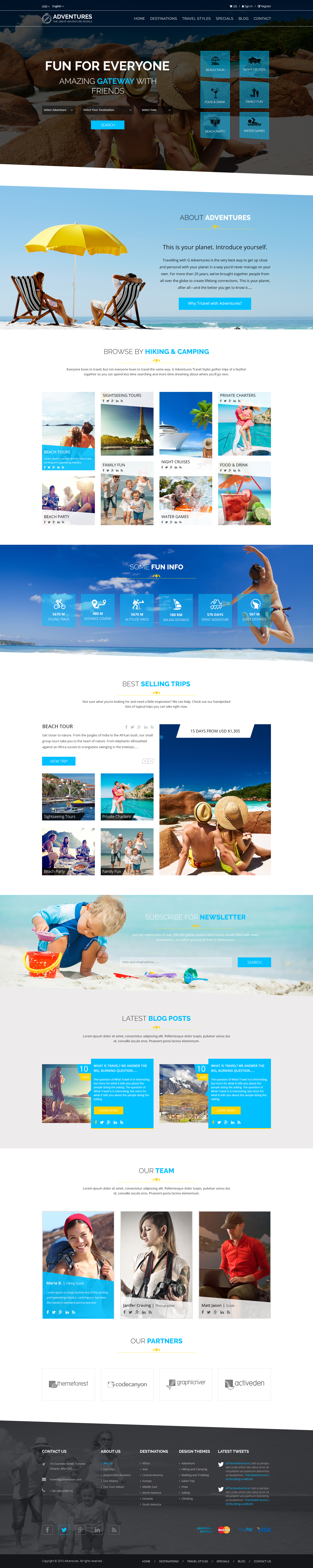 Adventures and Tour PSD Template example image 4