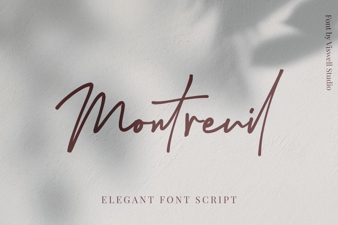 Montreuil - Elegant Signature Font example image 1