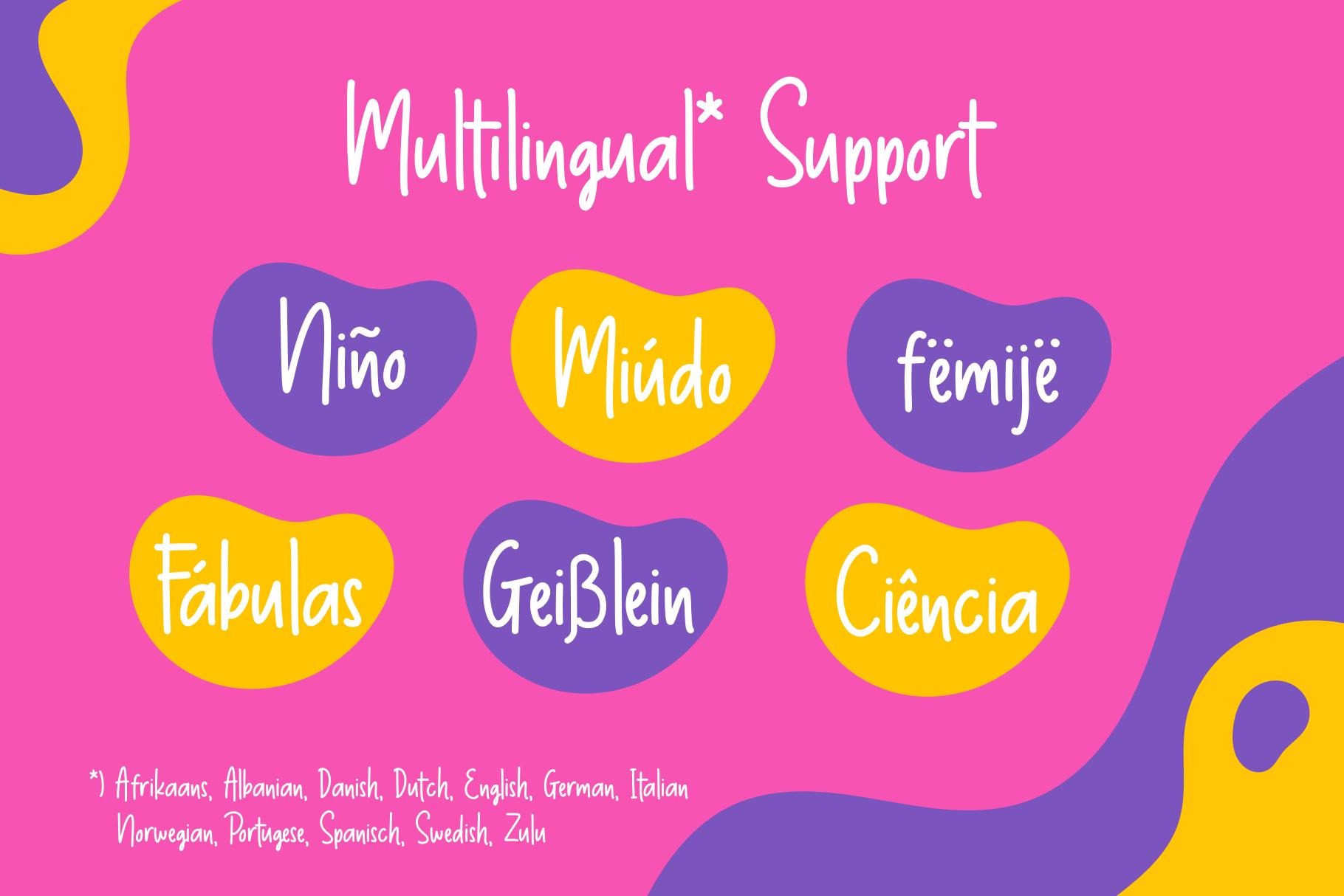 Thumbelina - Cute Layered Font example image 5