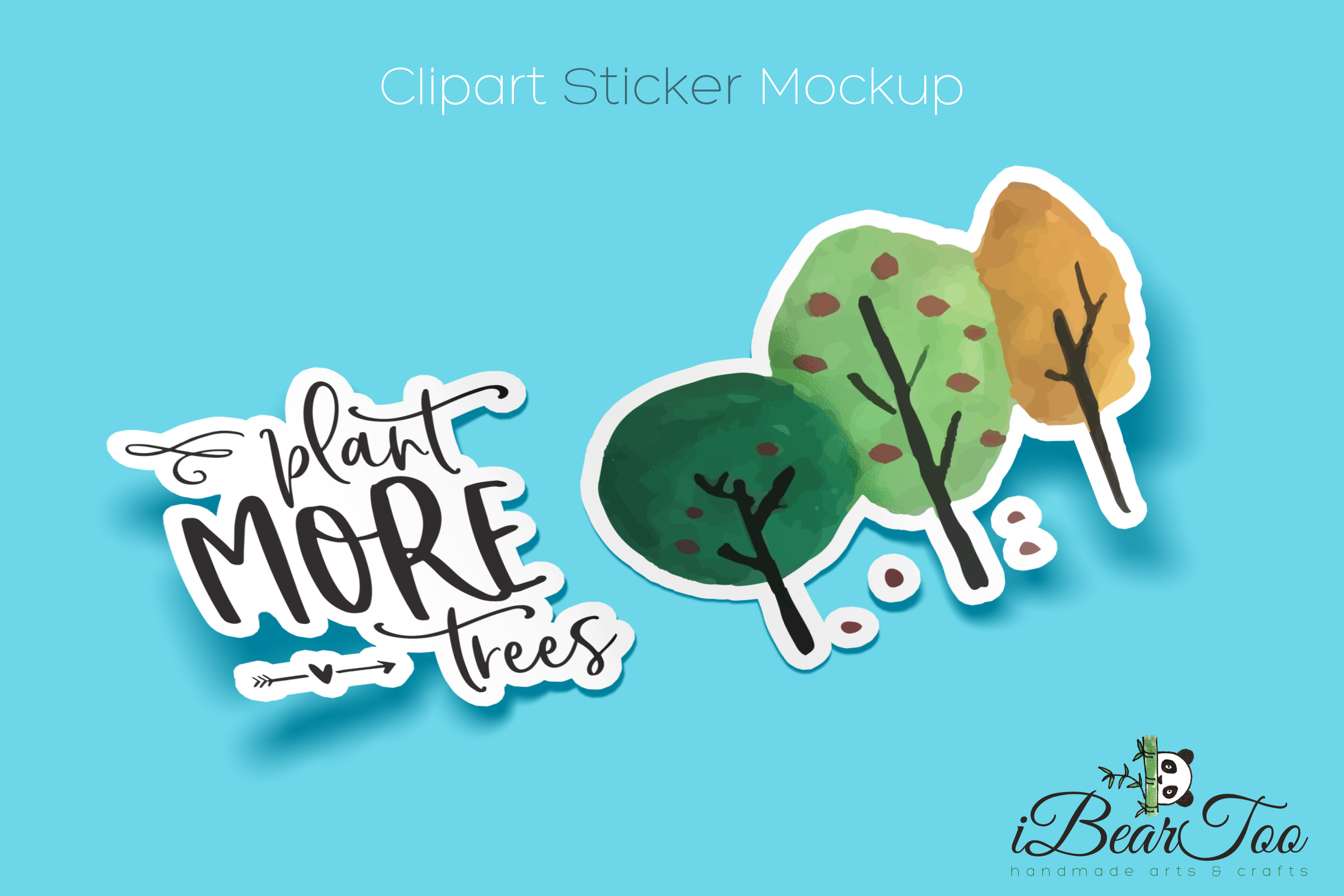 Plant More Trees SVG Clipart Watercolor, Vector Sketch example image 7