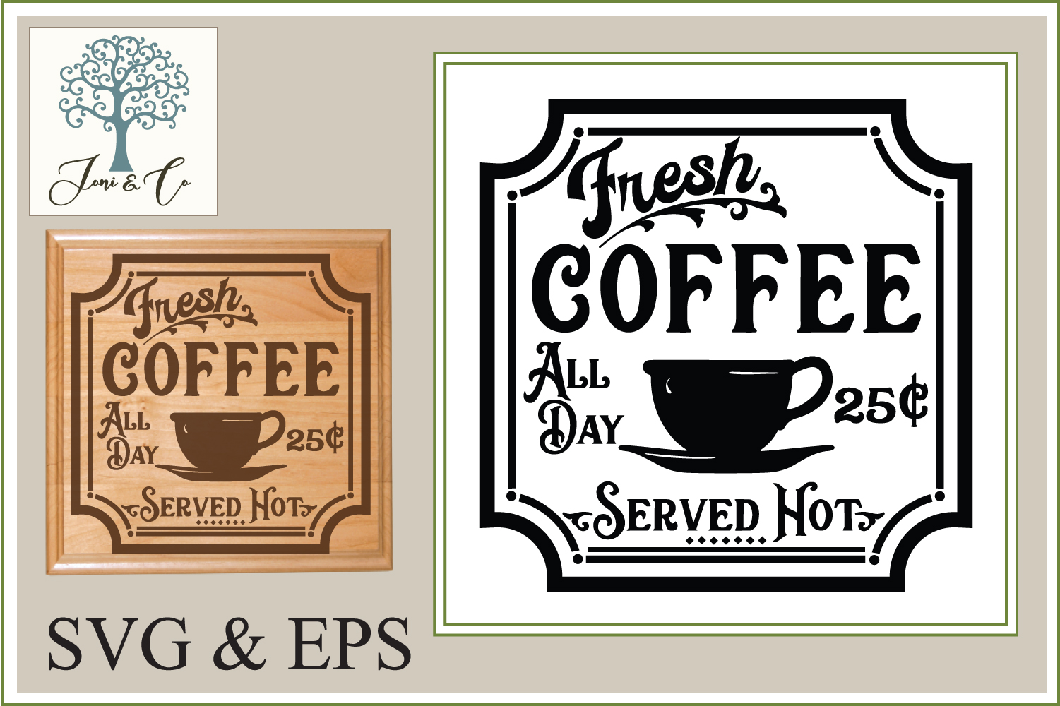 Retro Coffee Shop Sign example image 1