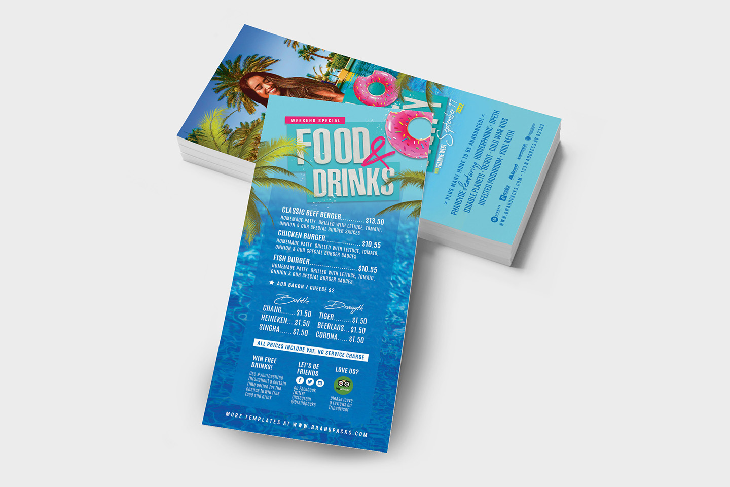 Pool Party Flyer Template example image 9
