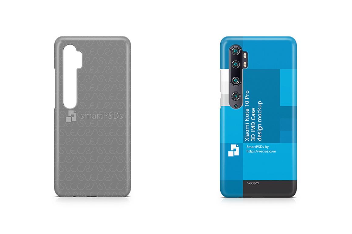 Xiaomi Mi Note 10 Pro 2019 3d IMD Case Design Mockup example image 1