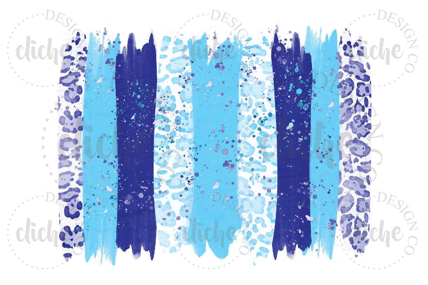 Winter Paint Stroke Sublimation Design Background example image 1