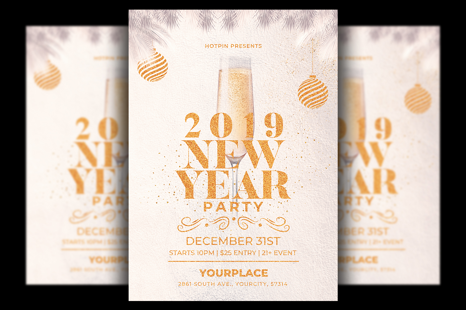 New Year Flyer | Invitation Template example image 1