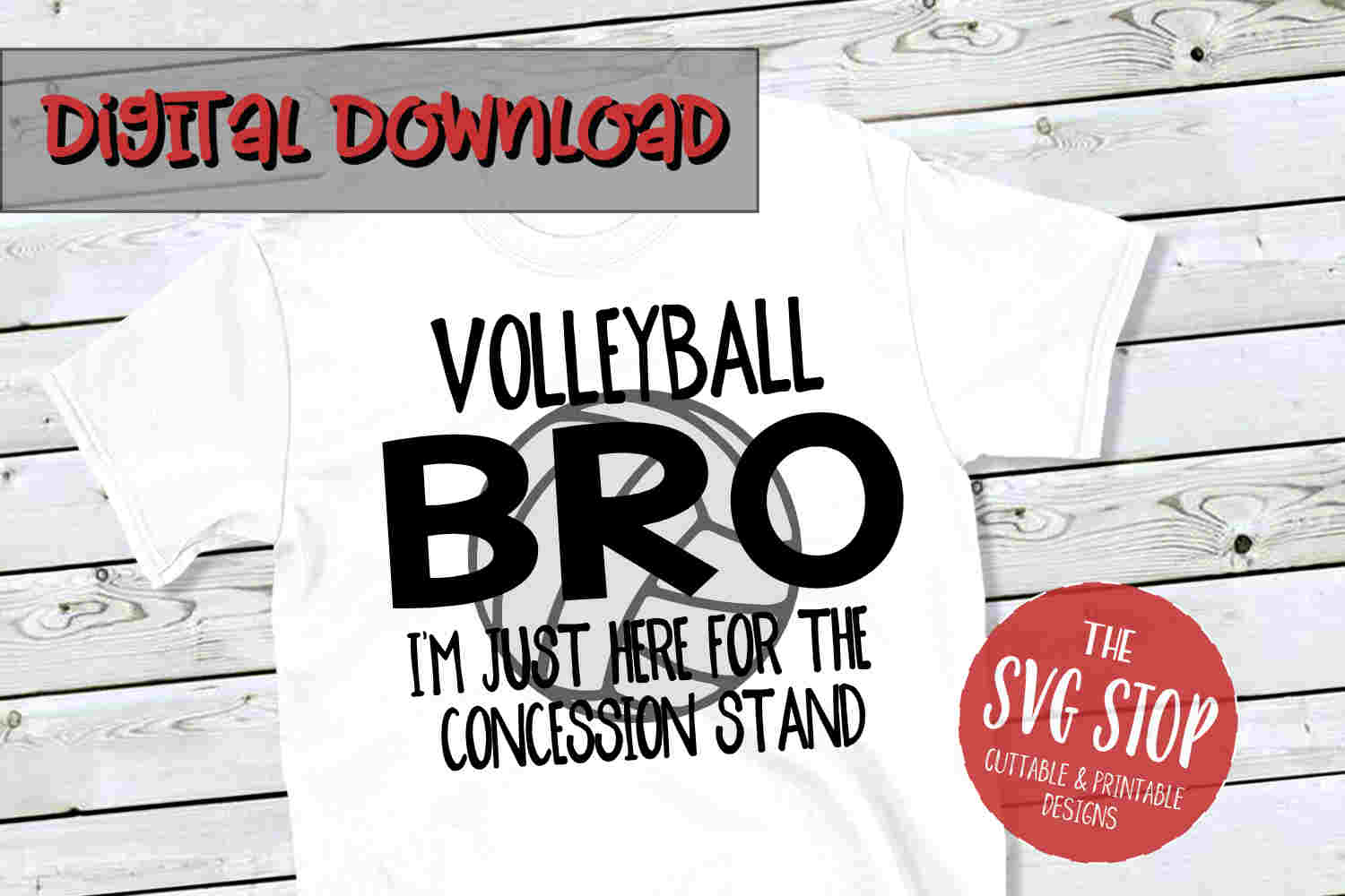 Volleyball Bro SVG PNG DXF example image 1