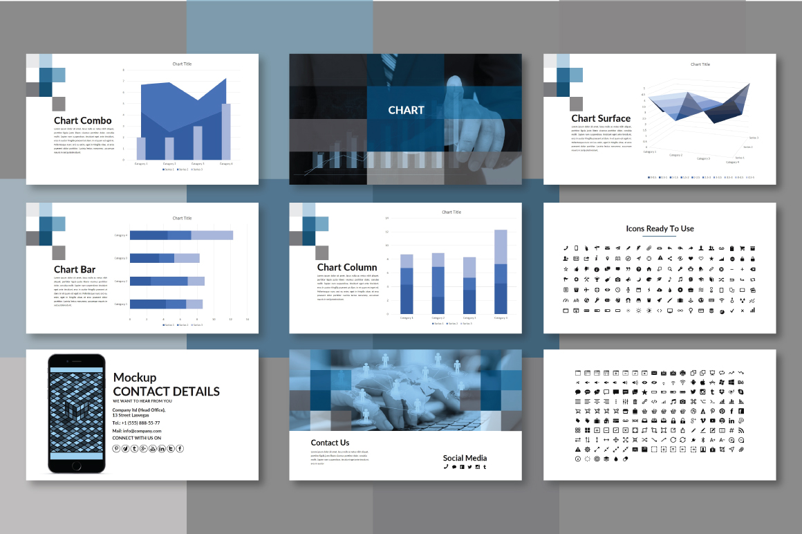 Half Powerpoint Template example image 5
