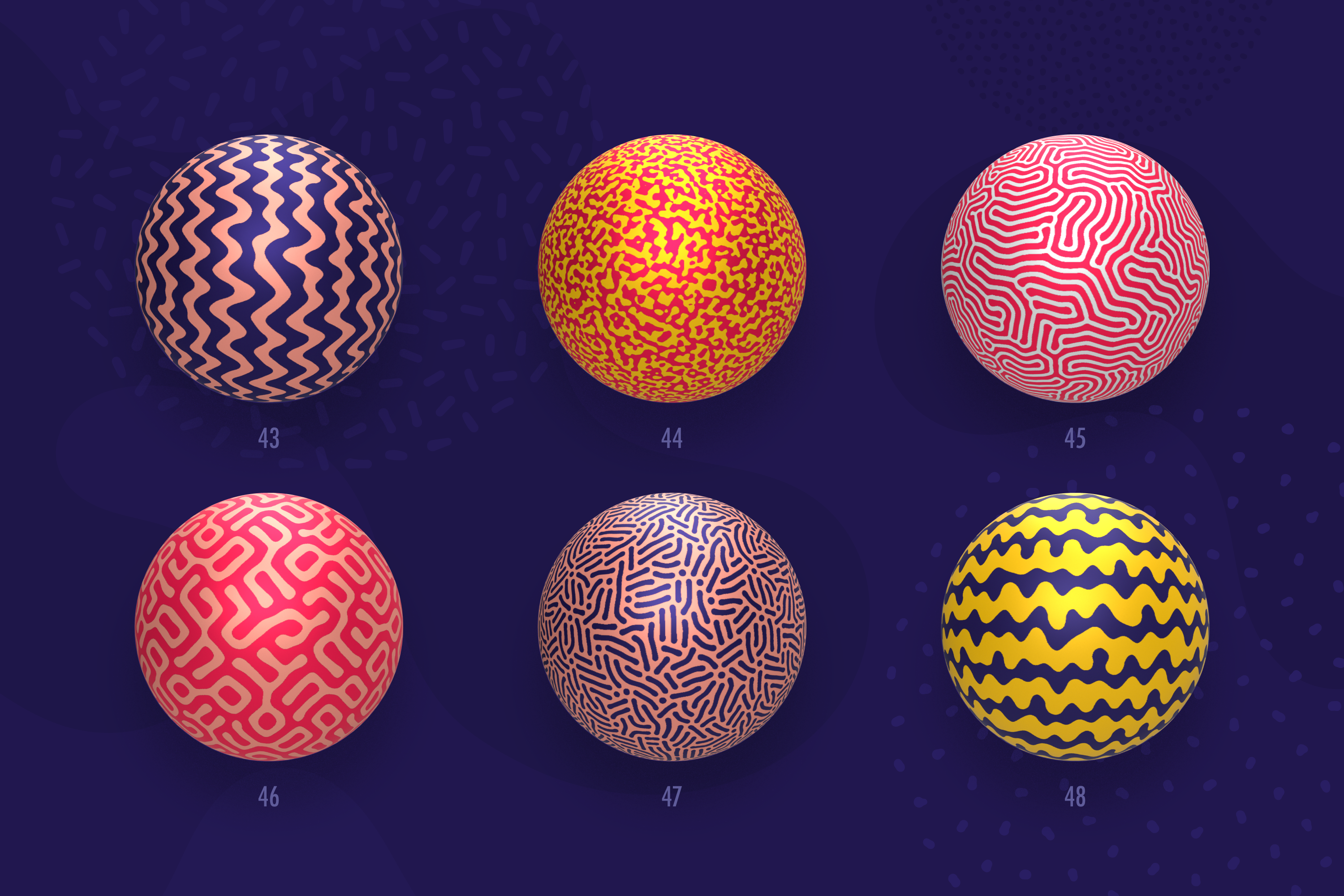 Organic Shapes 100 seamless textures collection example image 17