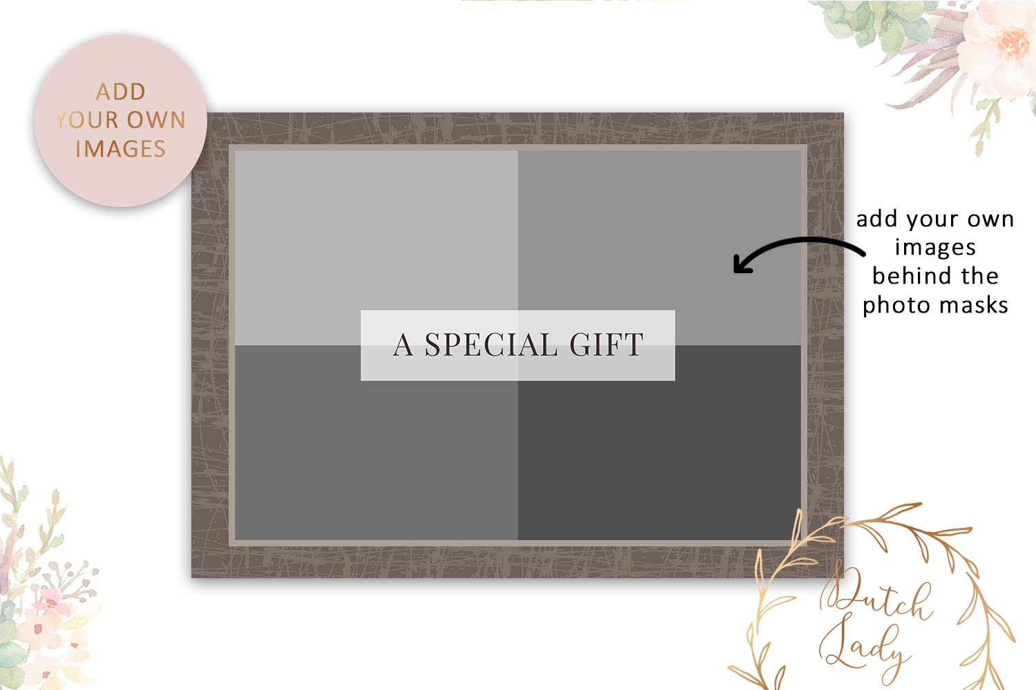 Photo Gift Card Template for Adobe Photoshop - #29 example image 3