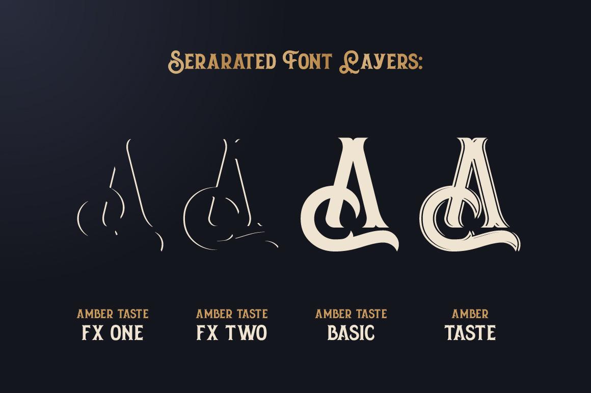 Amber Taste Font, Label, Mockup! example image 3