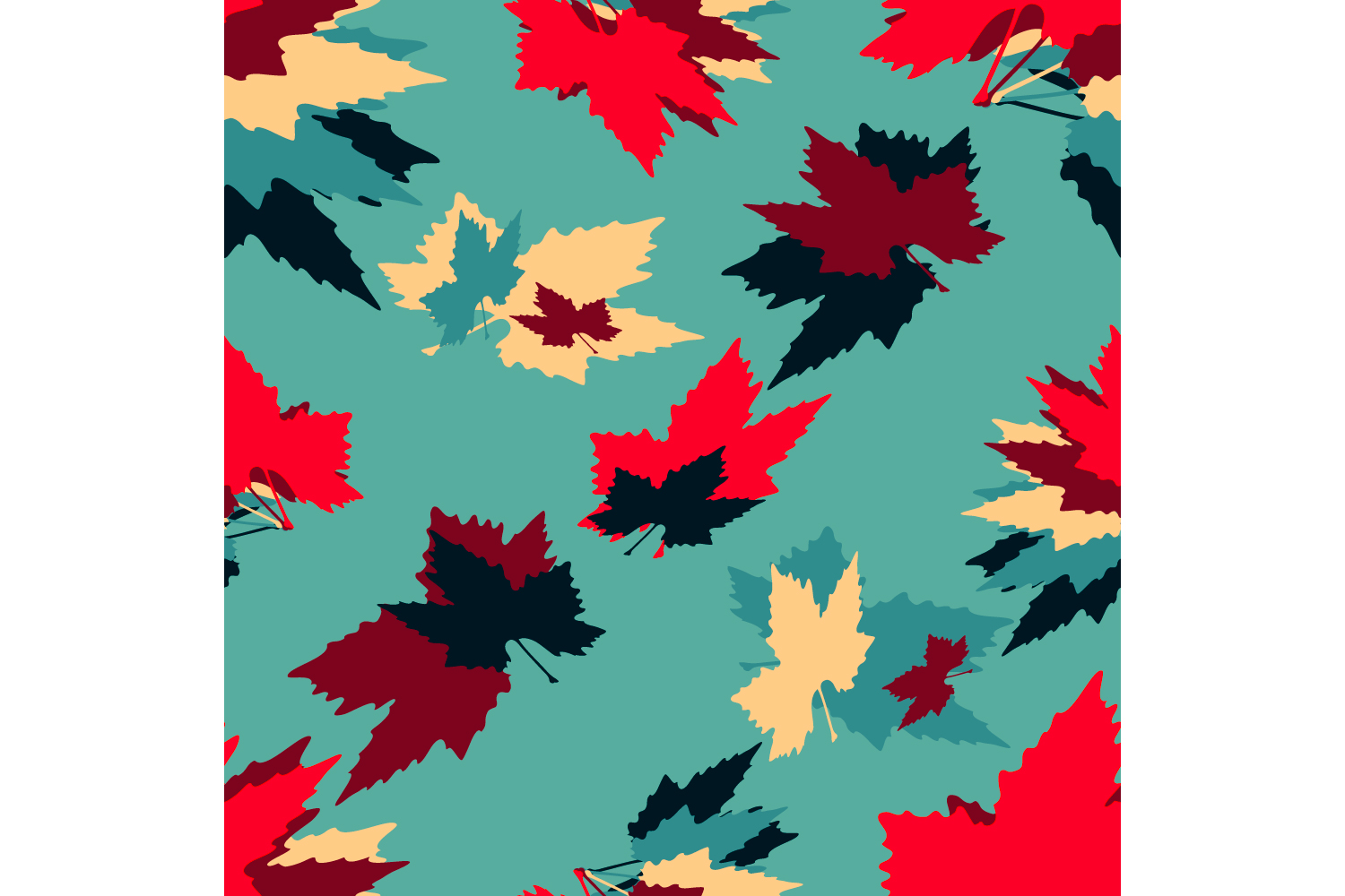 Maple leaves. Seamless pattern. example image 2