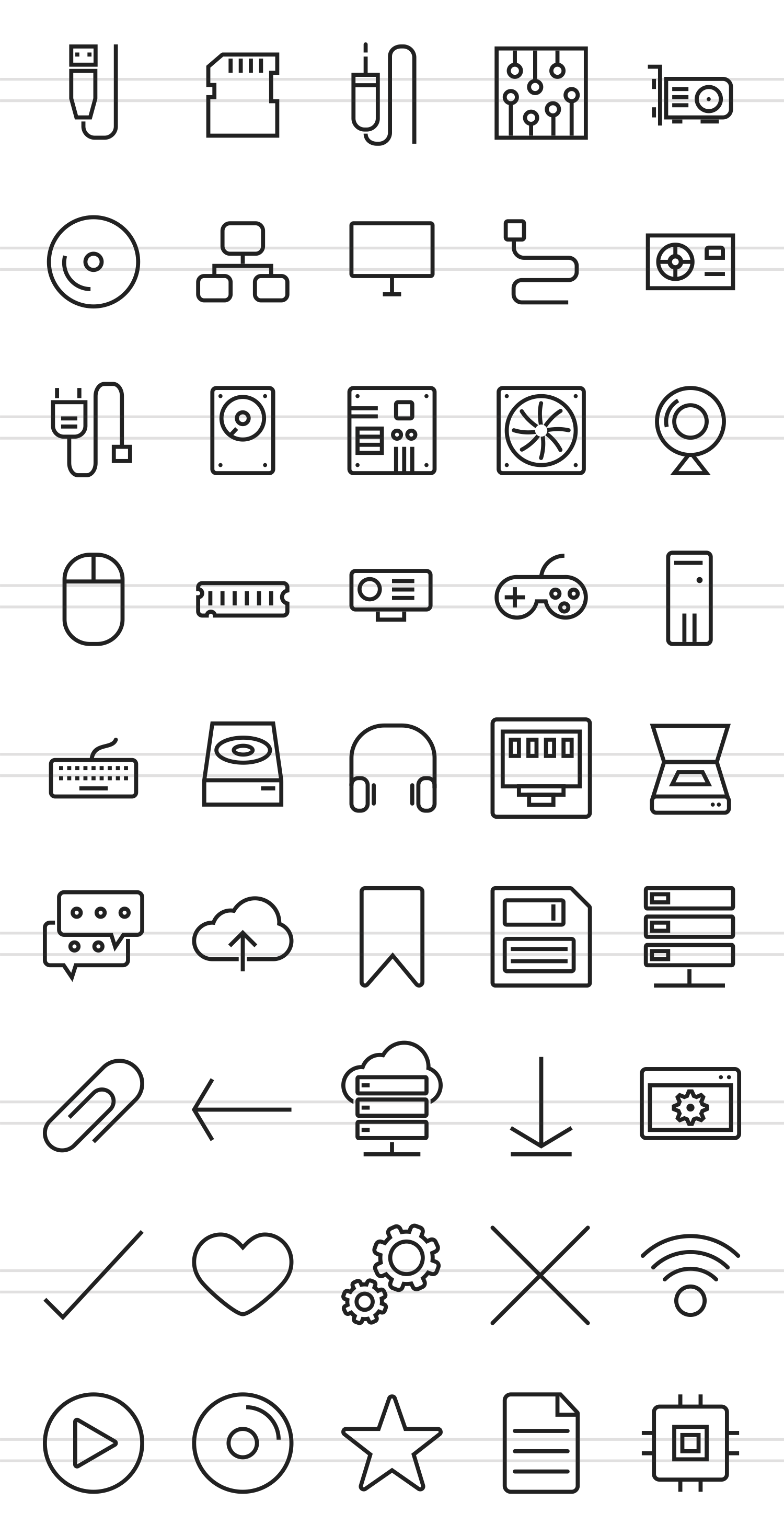45 Computer Line Icons example image 2