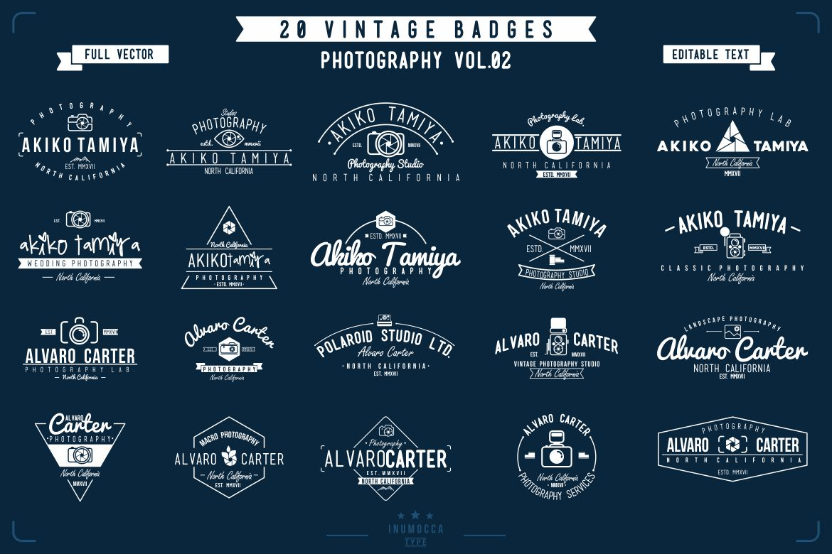 BIG BUNDLE Vintage Badges example image 3