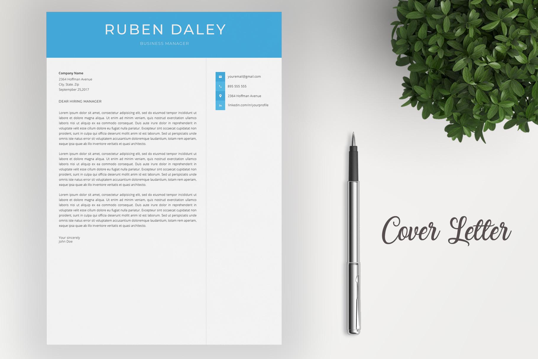 Modern Resume Template / CV Template example image 4
