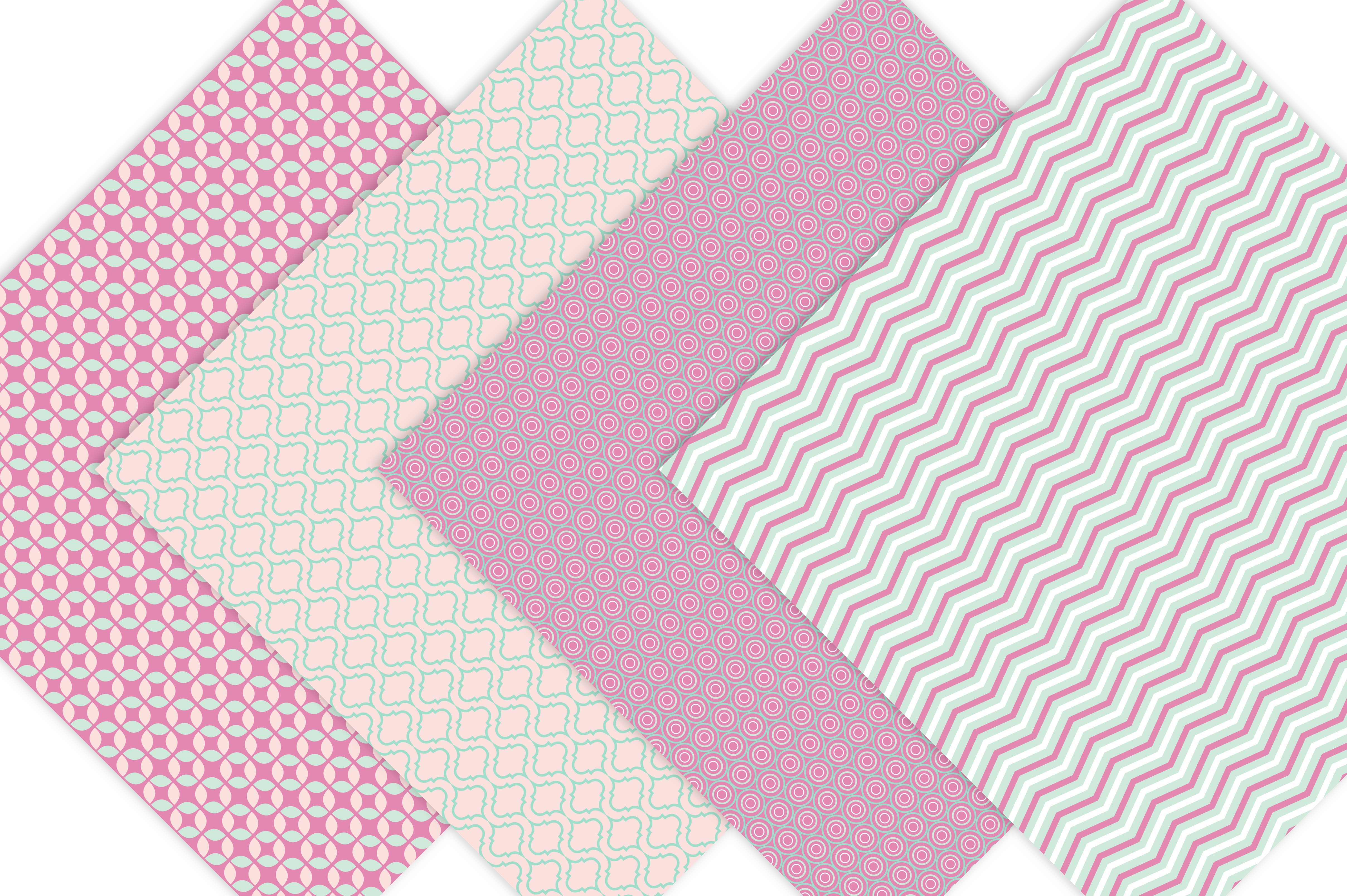 Geometric Digital Paper Patterns example image 5