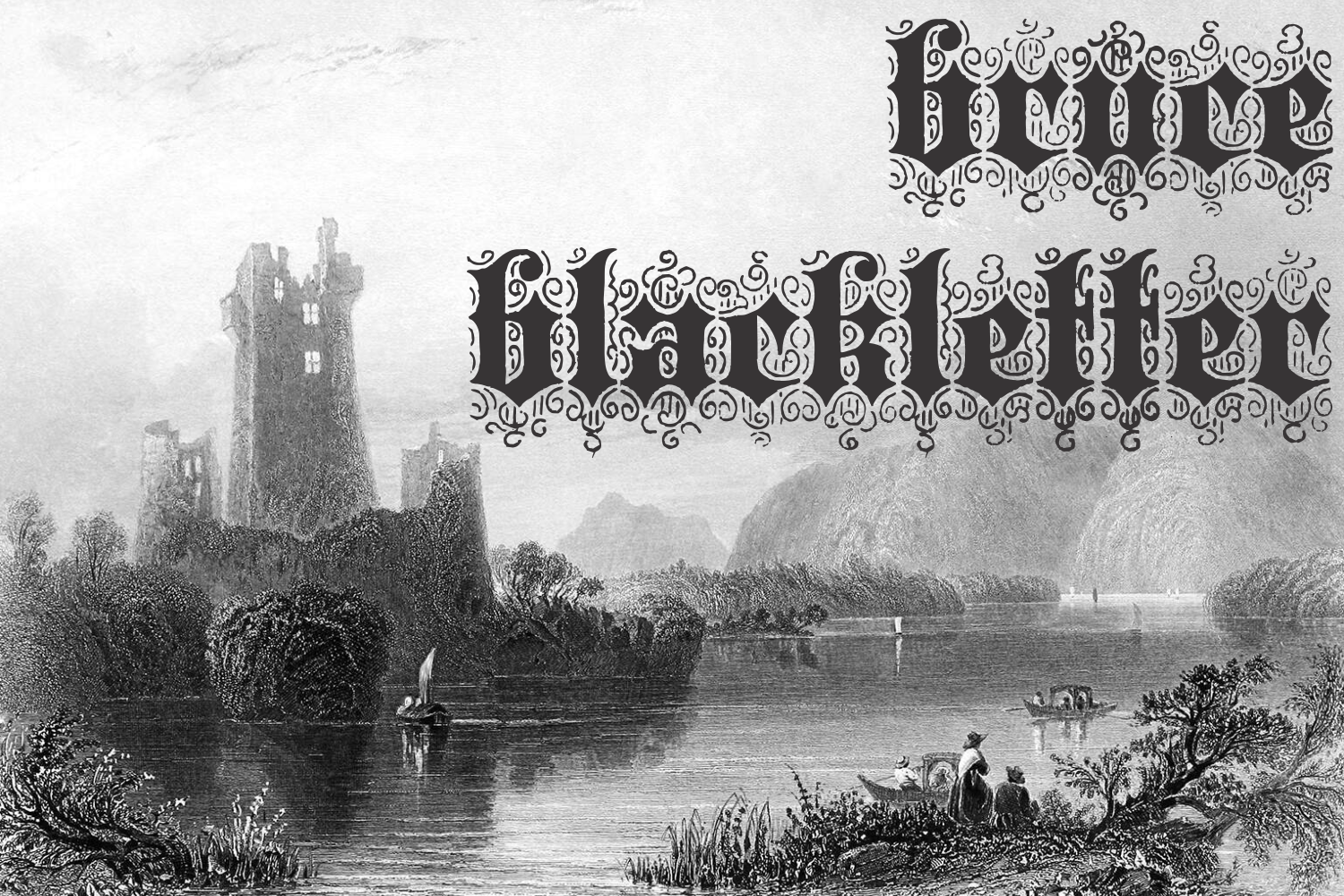 Bruce 532 Blackletter example image 1