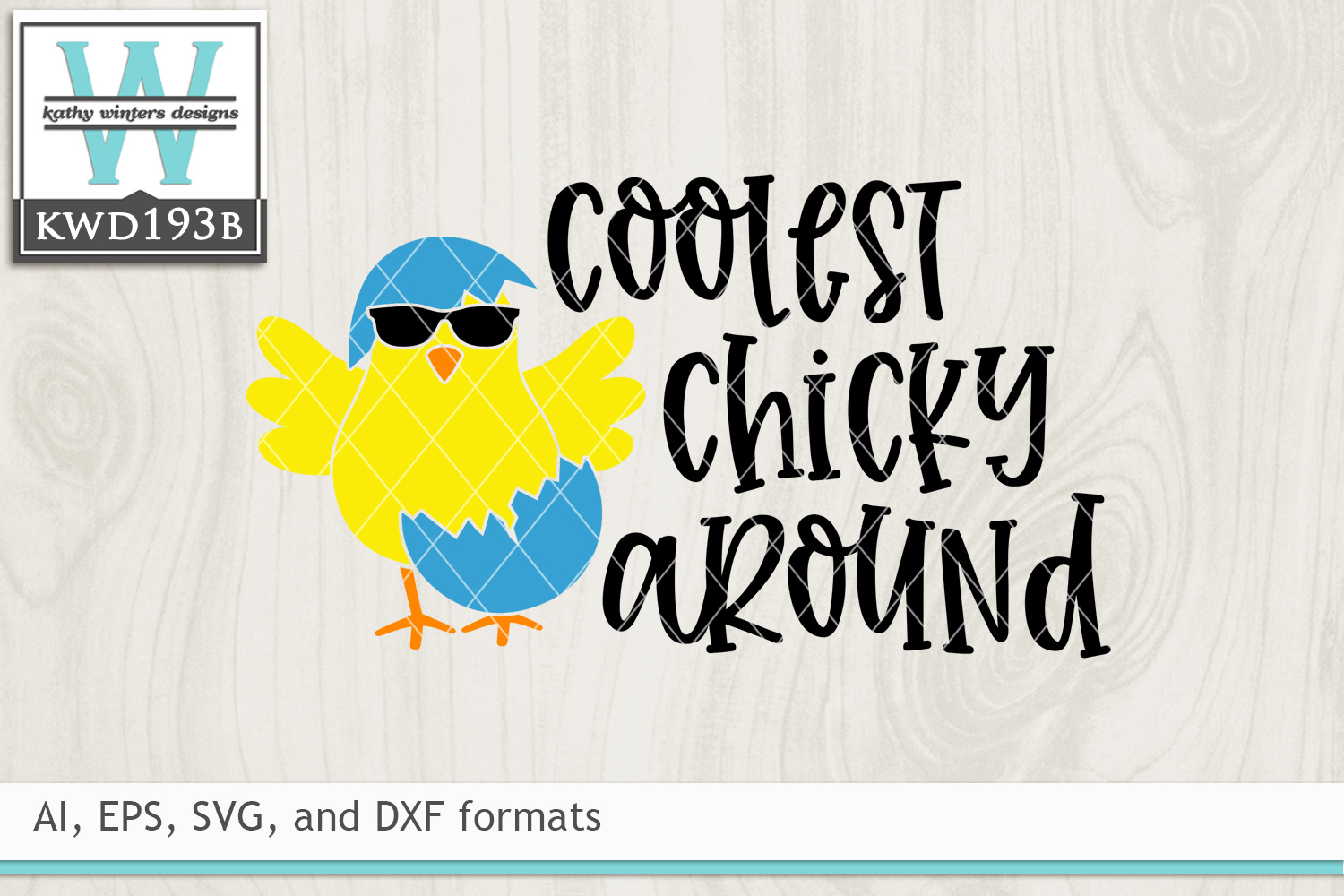 Easter SVG - Cutest Chicky Around example image 2