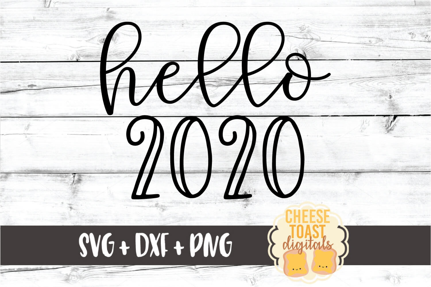 Hello 2020 - New Year SVG PNG DXF Cut Files example image 2
