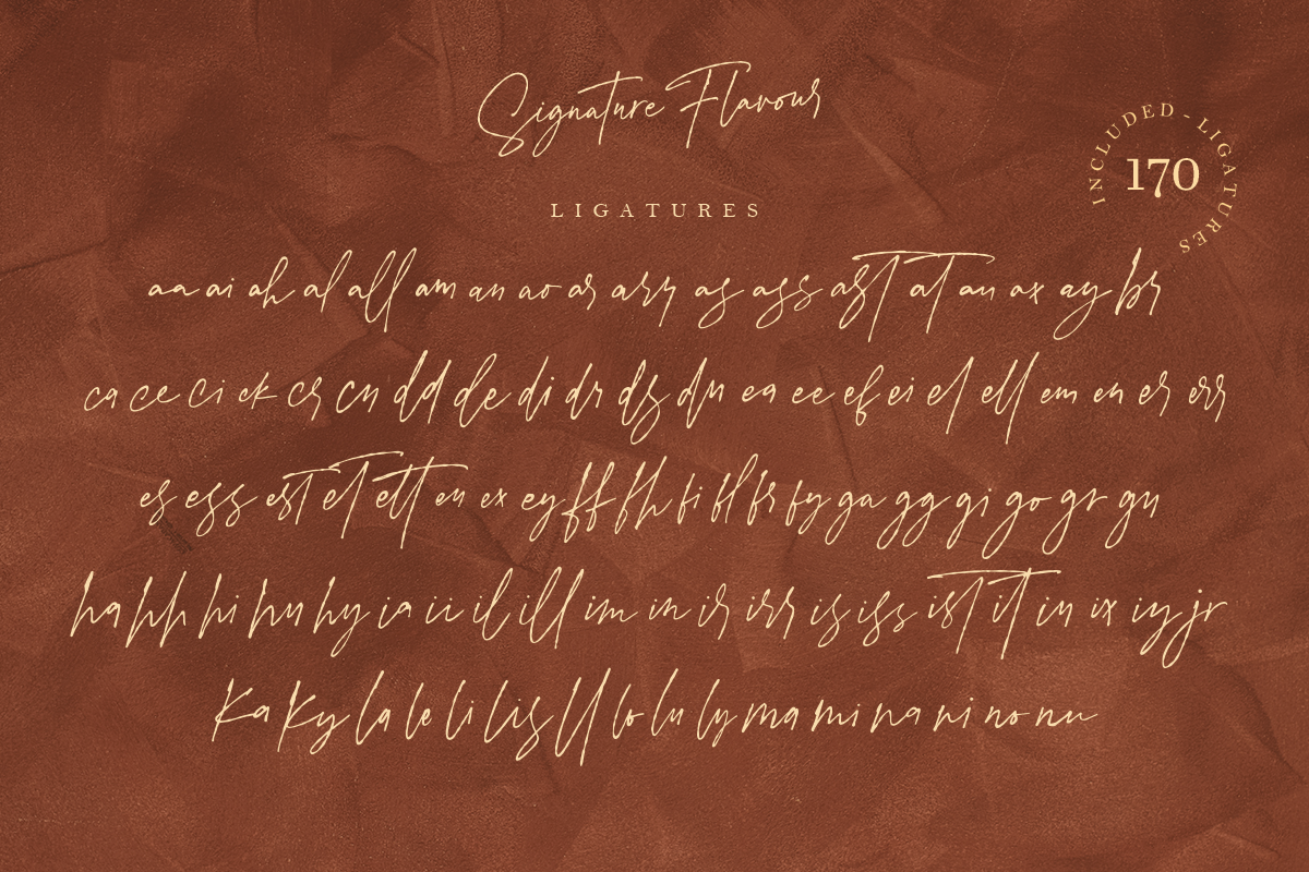 Signature Flavour | Handwritten Font example image 15