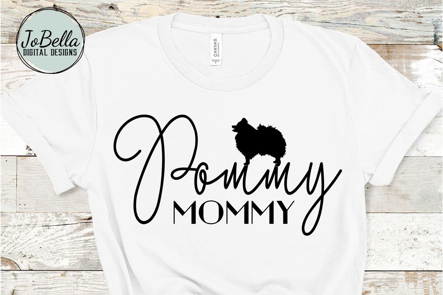 Pommy Mommy SVG and Printable Dog Lover Design example image 1