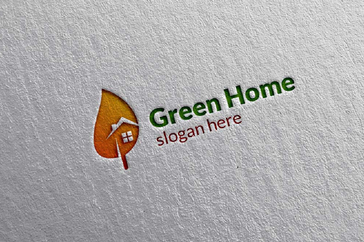 Real estate Logo, Green Home Logo 6 example image 5
