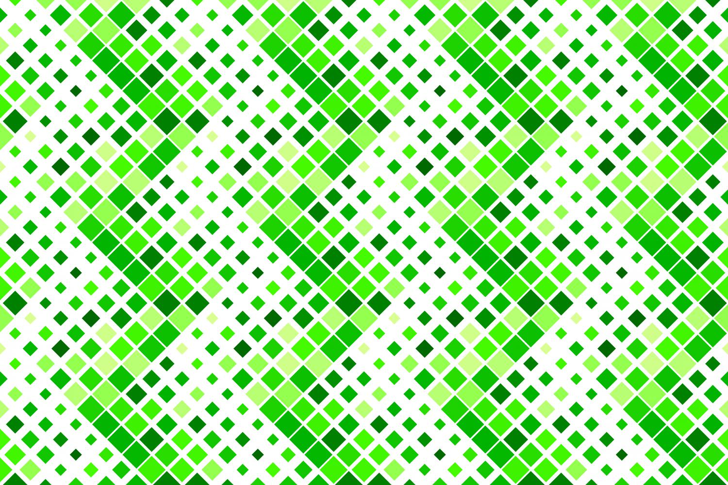 24 Seamless Green Square Patterns example image 4