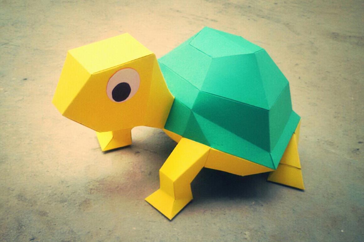 DIY Tortoise - 3d papercraft example image 3