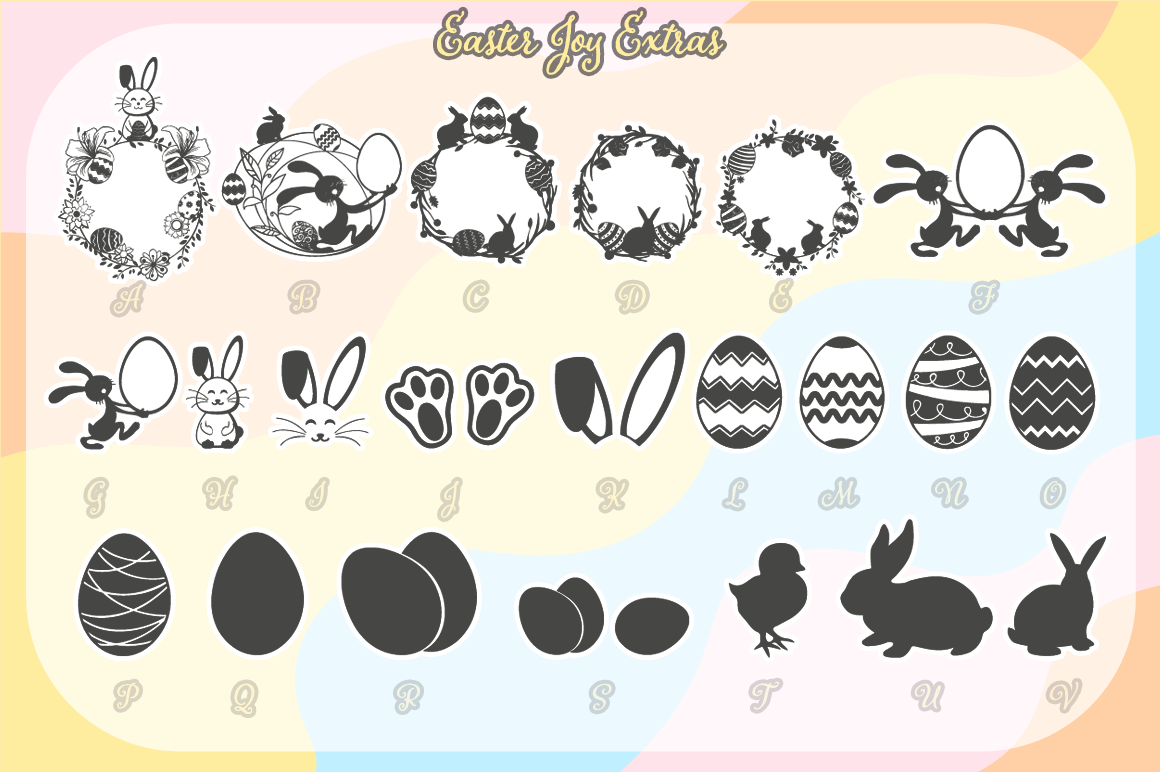 Easter Joy Bunnies - A Lovely Craft Font example image 6