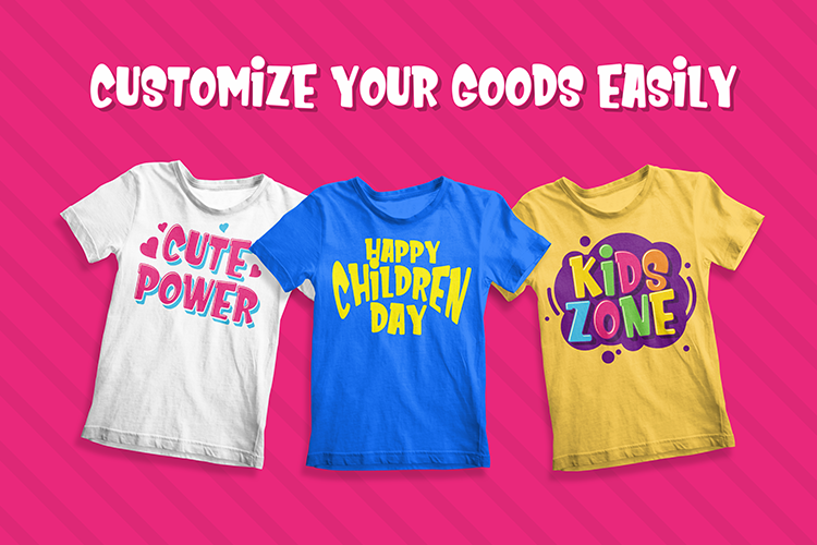 Kids Zone // Layered Font example image 7