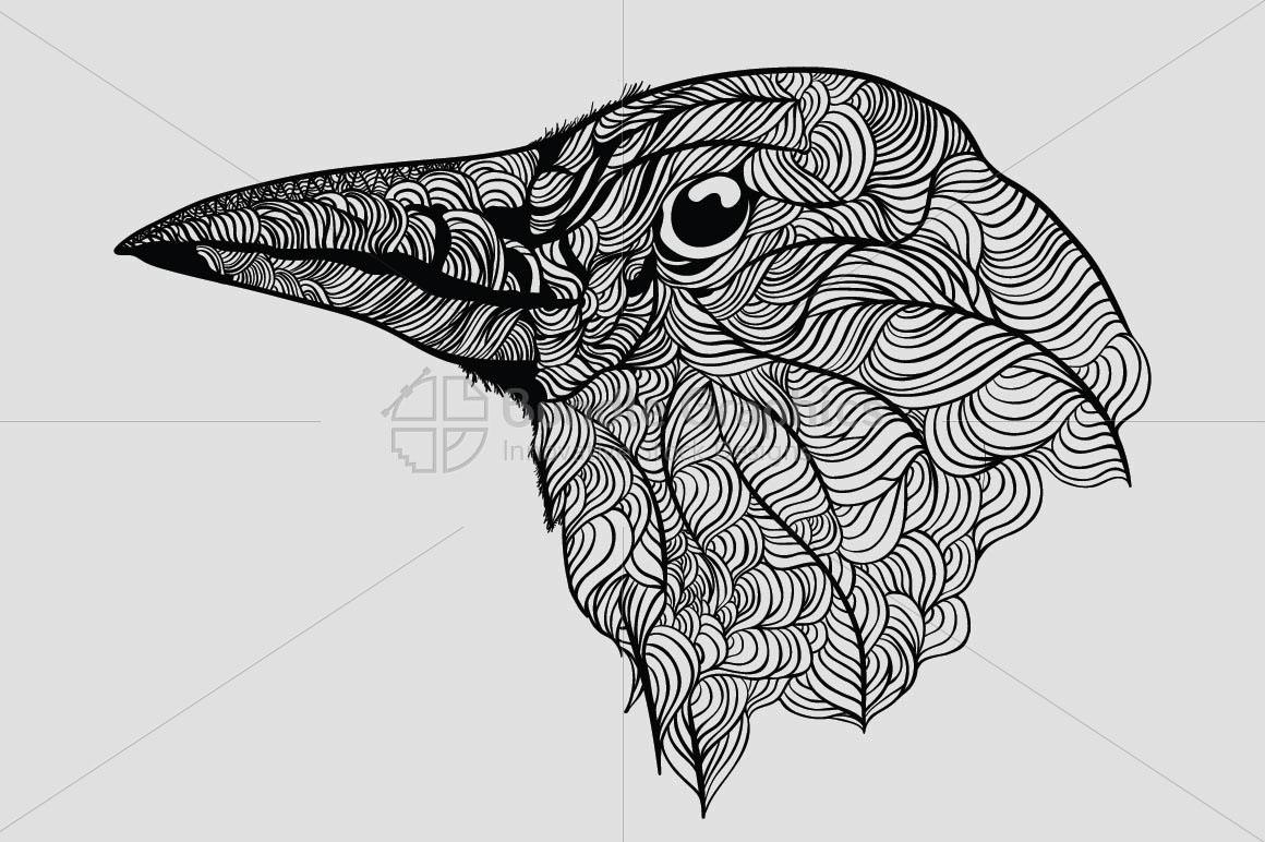 Raven - Vector Graphic Image of Bird example image 2