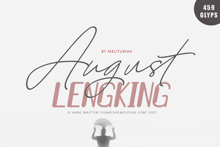 August Bold&LENGKING SLANT Font duo example image 1
