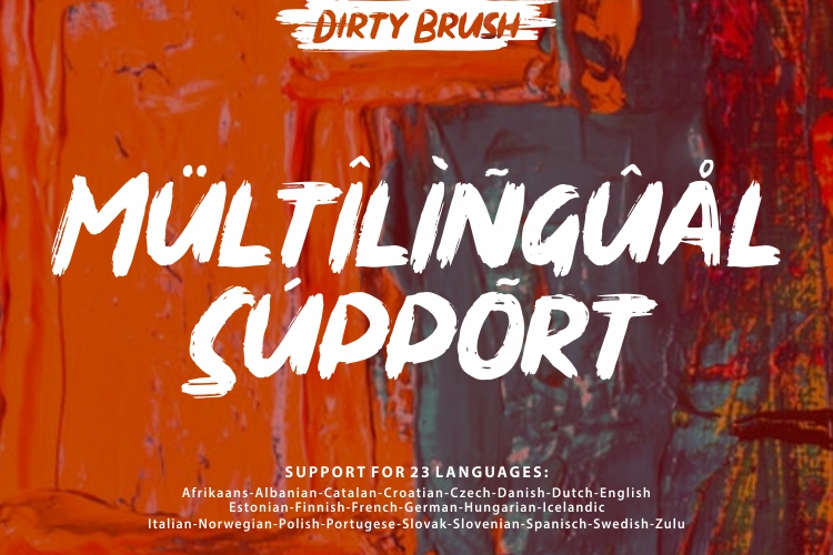 DIRTY BRUSH Font example image 7