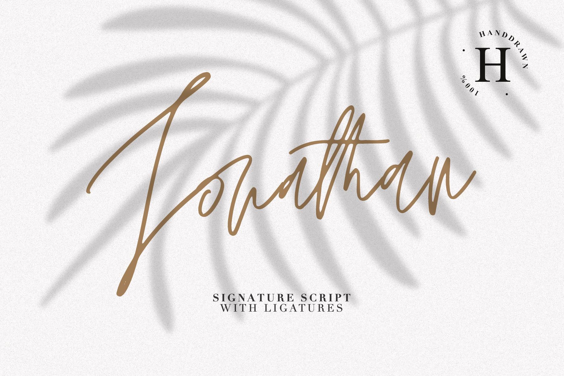 JONATHAN SIGNATURE example image 1