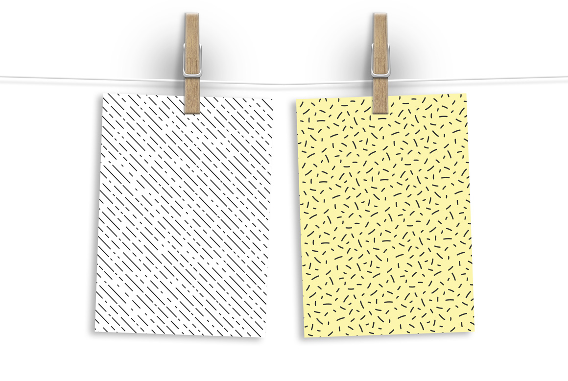 Memphis seamless patterns - swatches example image 5