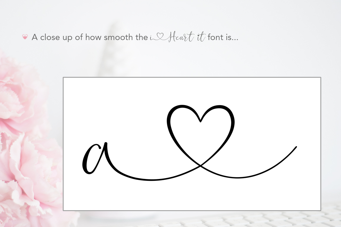 iHeart it wedding font example image 11