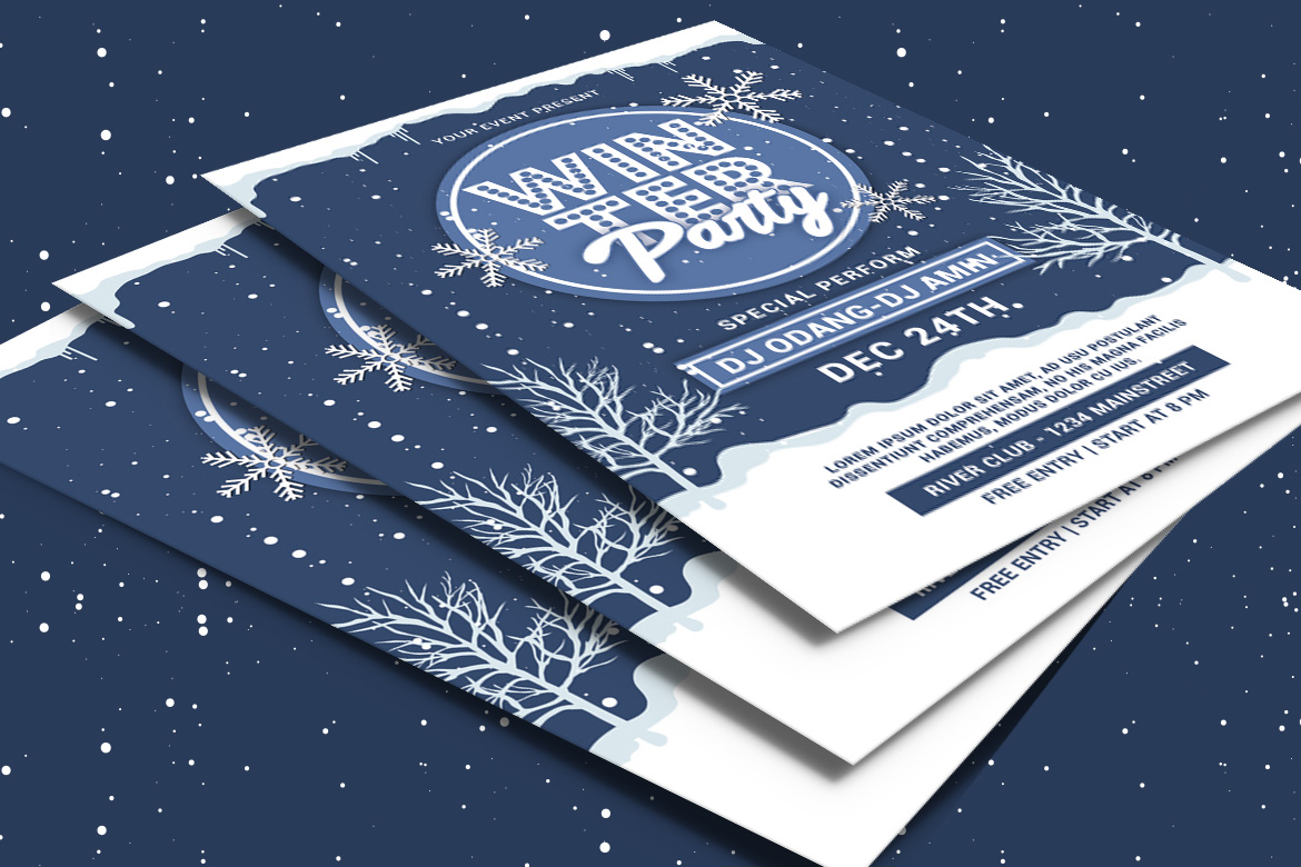 Winter Party Flyer example image 4