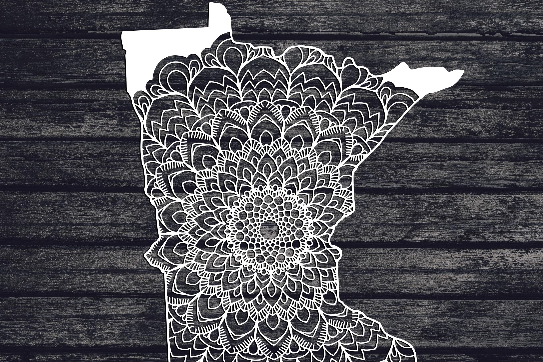 Minnesota Mandala Svg, Minnesota Svg, MN Svg, State Svg example image 1