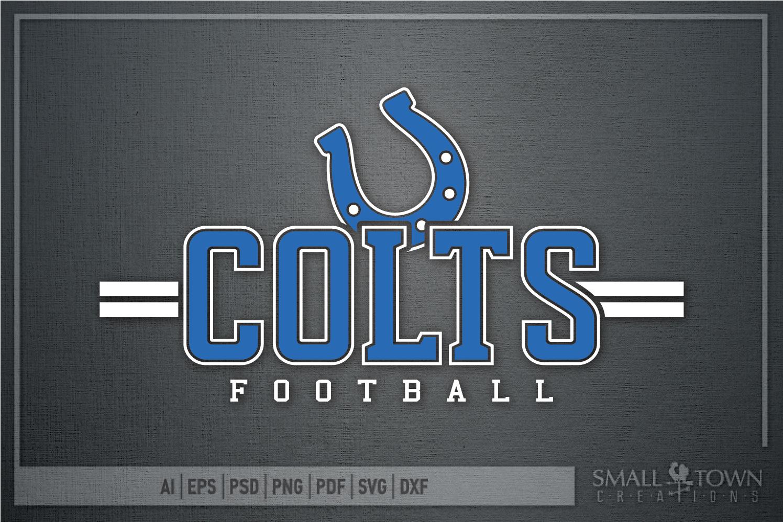 Colt Football, Horseshoe, Colts Team, PRINT, CUT & DESIGN example image 5