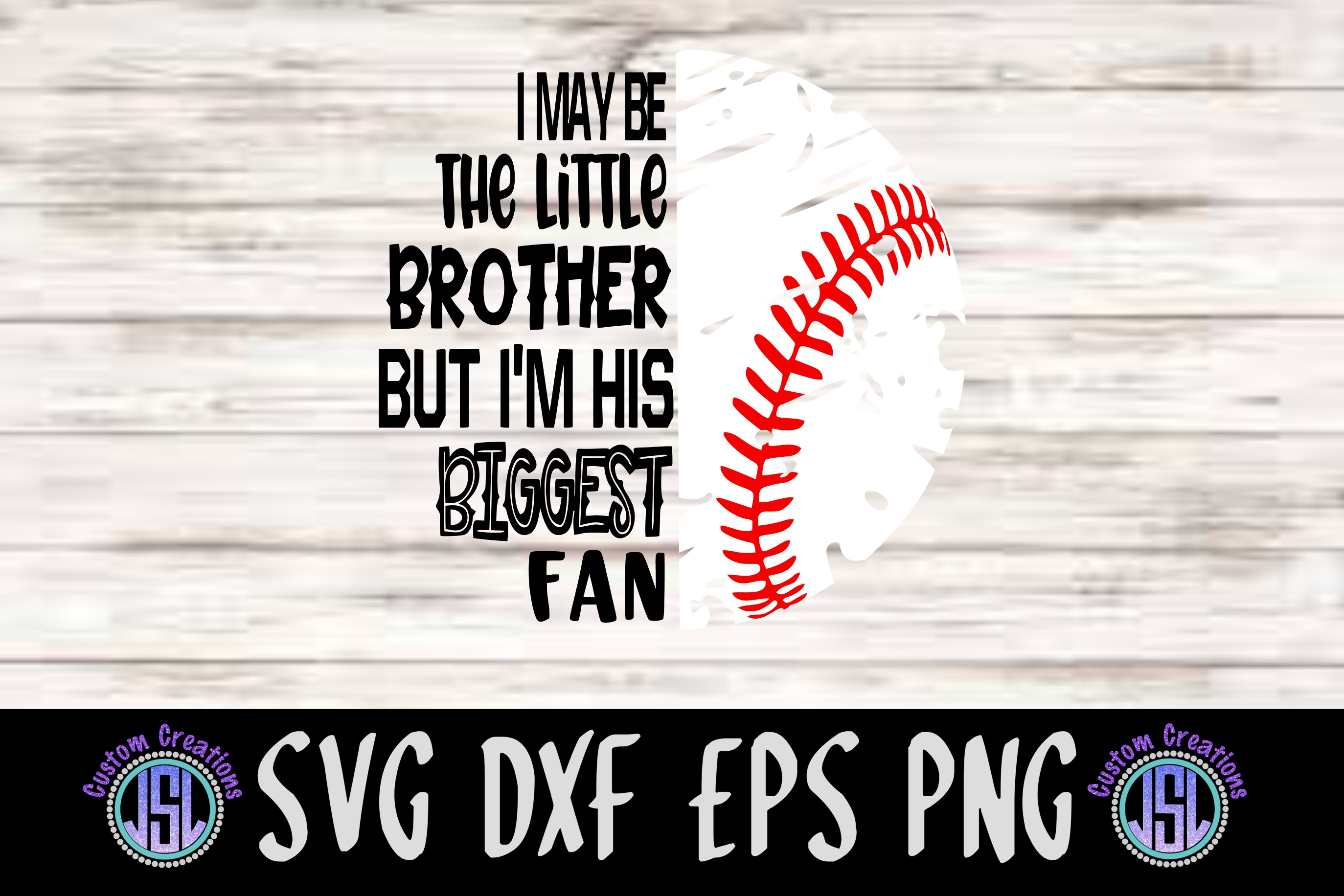Biggest Fan Little Brother & Sister | SVG DXF EPS PNG example image 2