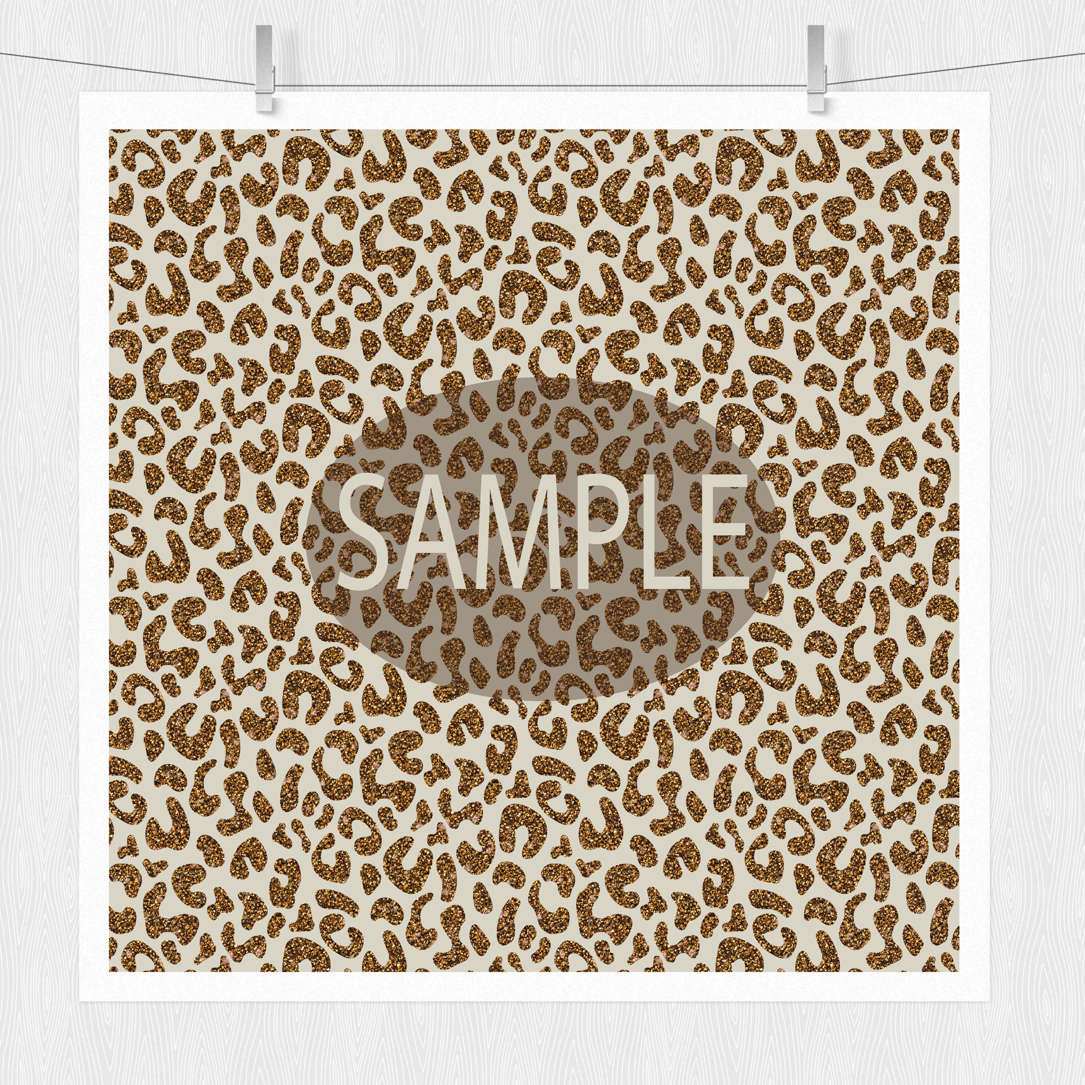 Gold & Glitter Cheetah Paper Pack example image 4