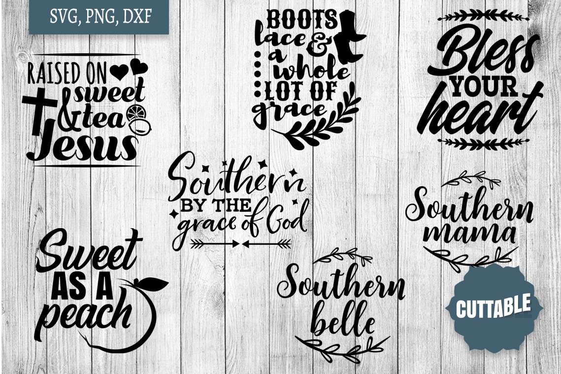 Southern cut file Bundle, Southern girl SVGs quotes example image 2