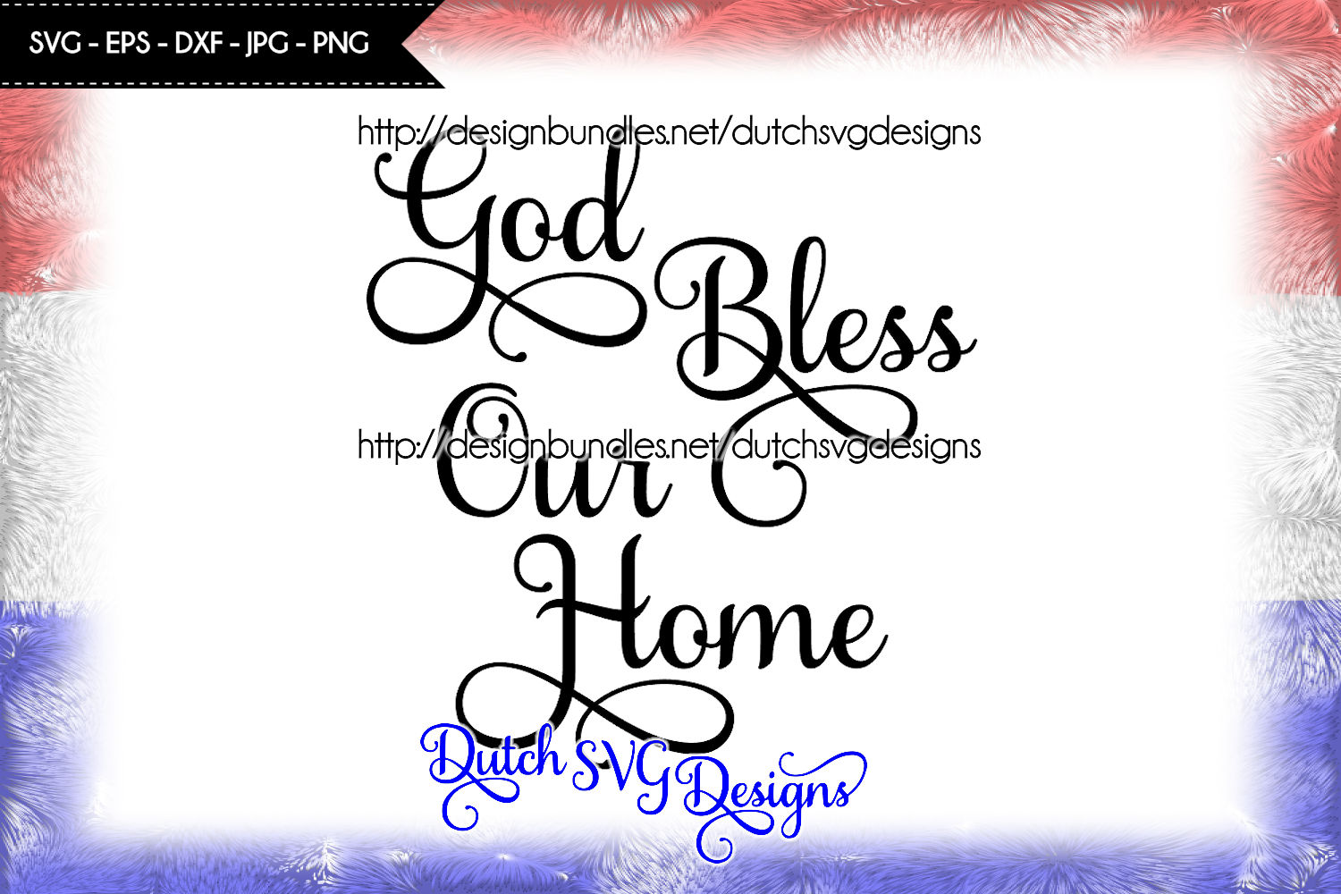 Text cutting file God Bless our Home, svg cut file example image 2