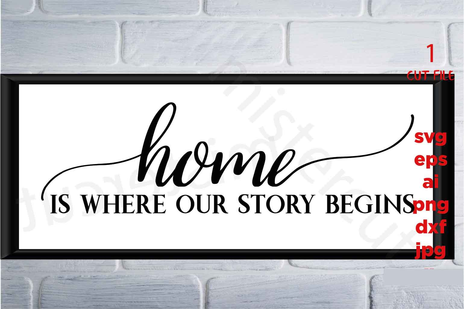 Home is where our story begins, Farmhouse Home svg, DxF, Ep example image 2