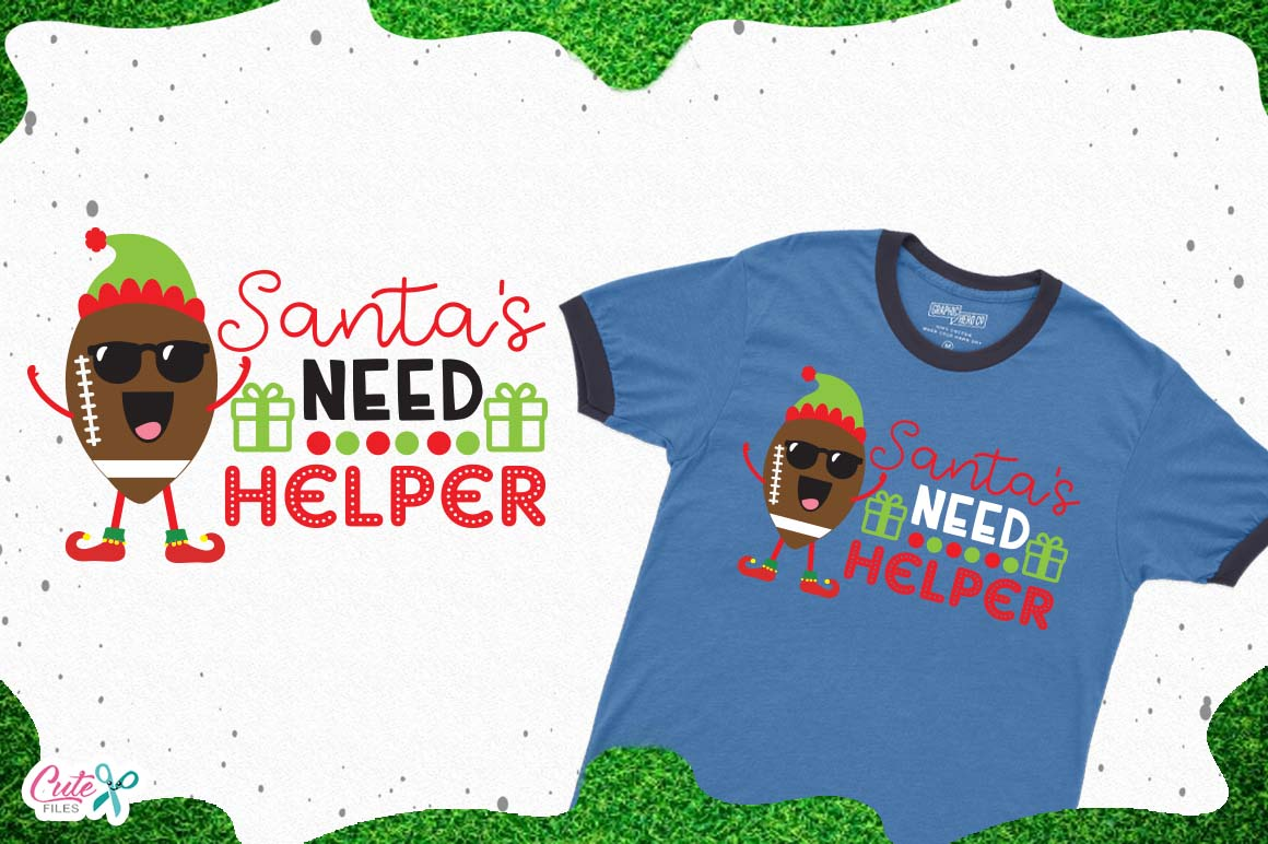 Santas need helper SVG, cut files for craftter example image 1